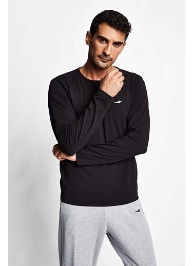Lescon Siyah Erkek Uzun Kol T-Shirt 20S-1236 Siyah